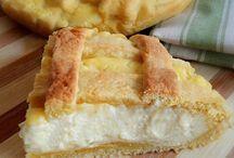 crostata con crema pasticcera e ricotta