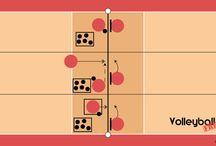 Volleyball Excercises/ Übungen / Volleyball Übungsskizzen für verschieden Trainingsschwerpunkt!