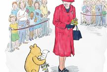 Winnie the Pooh / Two British icons celebrate their 90th birthday this year - The Queen and Winnie the Pooh! Here's our homage to Winnie - a much loved children's character for generations and still going strong! We love you WTP!