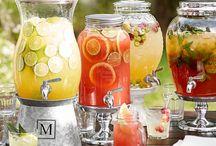 porta sucos de vidros para servir no chá bar