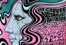 Poster Art Stylized Retro / Poster art that is or references 60's & 70's Pop/psych art