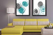 turquoise wall art