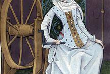 Stroje damskie XVw    Female garments XV century