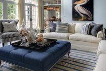 Blue & White Decor / All shades of blue design inspiration and decor ideas
