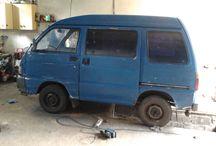 NuffRespkt rasta van / Smart car kei-van Piaggio Porter.(Daihatsu Hijet license). Rasta bus style. 1998, 1.0.
