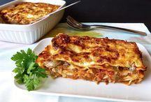 Ricette: lasagne, cannelloni,crespelle