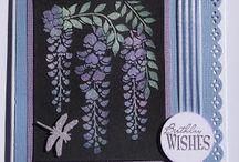 Cards...Wisteria and sweet peas
