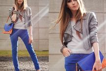 Estilo calça azul / Inspiração de look com calça azul.