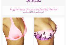 Před a po zvětšení prsou