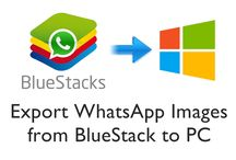 How to Download WhatsApp Images from BlueStacks to PC ?