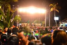 Carnaval / The third biggest parties in the world, with the biggest street dance floor.  Changing one party at a time.  The biggest outreaches we have as a base in Mazatlan.