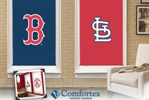 Major League Baseball / It's what your windows are rooting for! Major League Baseball™ Cellular and Roller Shades by Comfortex