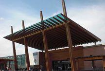 Ingresso Centro Commerciale a Rozzano (MI) / Ingresso in legno del centro commerciale di Rozzano https://www.marlegno.it