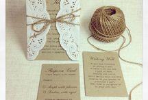 Invitații pentru nuntă rustică