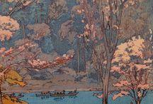 Japonské maľby, tlače