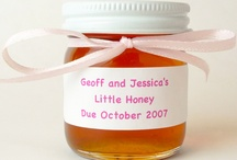 Baby Shower Favor Ideas / Are you or a loved one getting ready to welcome a sweet bundle of joy into the world? Are you planning a baby shower to celebrate? Find unique and affordable gourmet Honey Favors to send your baby shower guests home with at E+M Wedding Favors!
