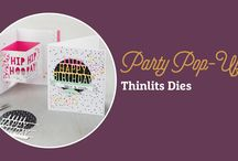 xxx Party 3D pop up Stampin' Up!