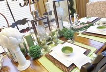 Spring tablescape  / Tablescape for a casual dinner party.