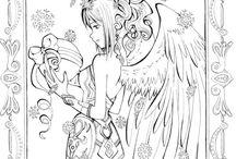 Coloriage d'ange