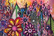 Doodle-kukkia
