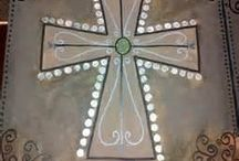 Painted crosses