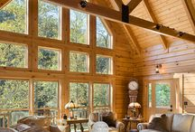 Window design offered by Honest Abe Log Homes / This board is about windows and the variety of appearances of windows and their design when located in or building in log homes or log cabins,especially Honest Abe Log Home.