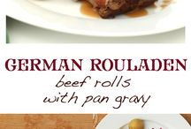 German Food / Old World recipes and new European cuisine from Germany