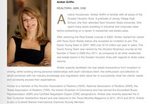 Meet Amber's Team- Griffin Realty & Associates #Houston #real estate / Griffin Realty & Associates is a branch of Coldwell Banker United, Realtors. Originally of the David Young team. Located at 14201 memorial dr. Houston, TX 77079. Bring yourself in and help us help you! #houston #real estate #realtors #home finders #home sales #real estate agents