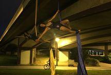 My aerial silk