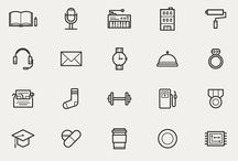 Icon design / Good icon design. Curating some excellent icons that features good line/color.