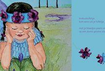 voorjaar, kinderen, liedjes, knutselen / illustraties gemaakt voor de website www.dewereldvanwiepje.nl knutseltips en liedjes