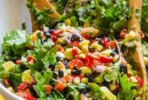 Stunning Salads / Salads that you actually want to eat....that stretch the bounds of possibilities.