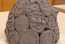 Keramika lidi,pajduláci,obličeje