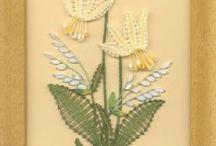 цветы коклюшками