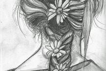 Houtskool tekeningen