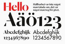 F O N T S / Fonts Schriften Type Typografie Typography Gestaltung Design