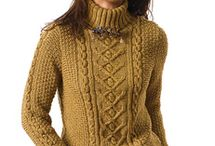 crafts knit sweaters, tops, cardigans, dresses, skirts