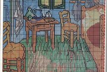 cross stitch real paintings