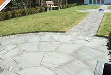 Sandstone Paving / Sandstone paved patios laid with Caledonian Stone sandstone paving products