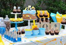 euen tool birthday ideas -yellow,blue,black