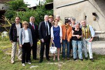 Festival des couleurs 2016 le jaune Larchant / Vernissage à Larchant en présence de personnalités (Valérie Lacroute).... et Pascal Bost invité d'honneur du festival des couleurs.