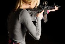 Women with gun
