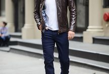 Look Homme : Leather Jacket / Pour créer un style #rebel #chic, #motard ou encore #rock, le #blouson en cuir sera votre meilleur allié.