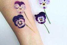 Violet tatoo