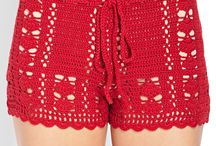 Shorts uncinetto