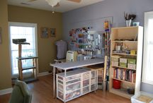 sewing room ideas / by Evelyn Thorsen