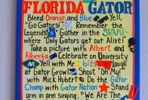 Gators / Go Gators!  I actually became a Gator by marriage, I am from Pennsylvania and never really followed college football.  36 years of marriage and happy Gator family! / by Patty Rheinsmith