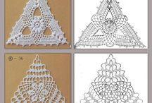 Μικρά τρίγωνα Πλεκτά Μοτίφια