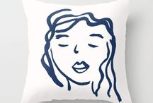 Cushions, prints, and decor