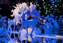 """FIESTA DE 15 """"El invierno"""" / El concepto general es el invierno, con ciervos como objeto central de la decoración"""